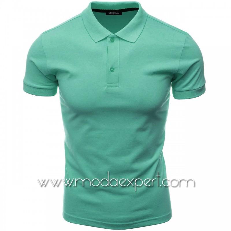 Мъжка тениска с яка F10-SBL