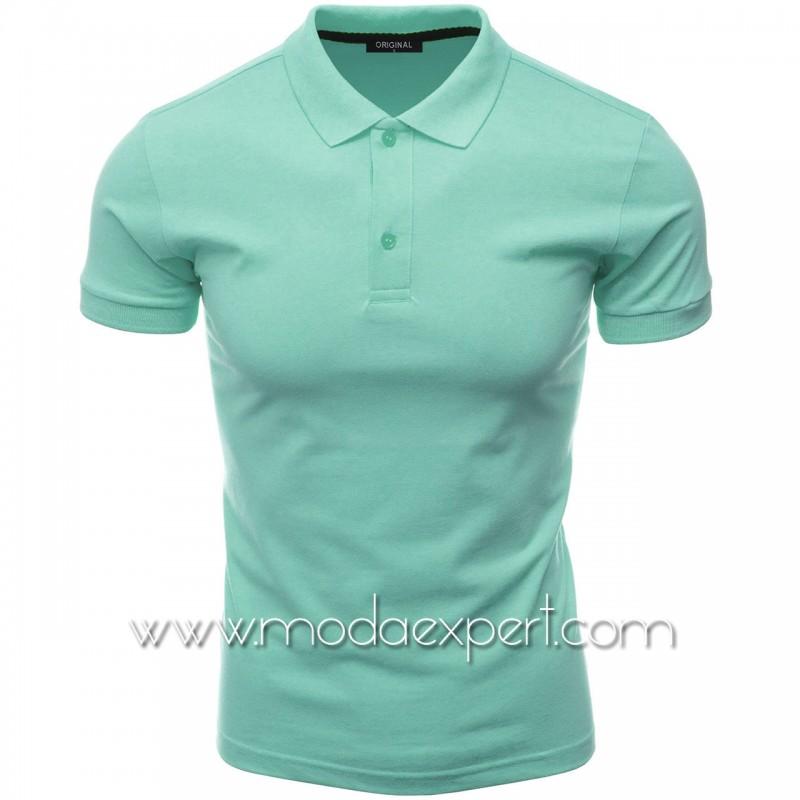 Мъжка тениска с яка F10-TU