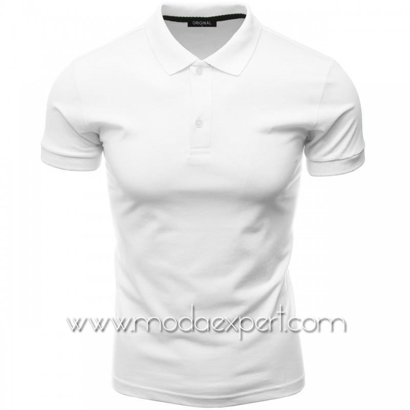 Мъжка тениска с яка F10-W