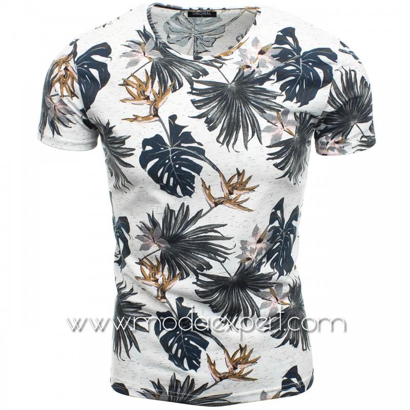 Мъжка тениска с принт F2111