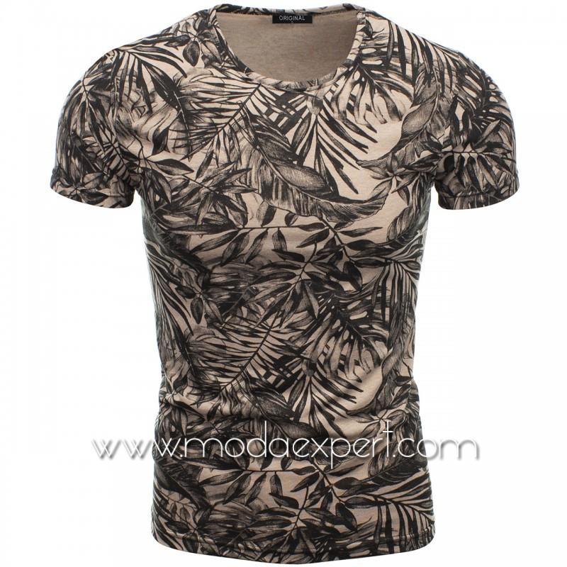 Мъжка тениска с принт F2115