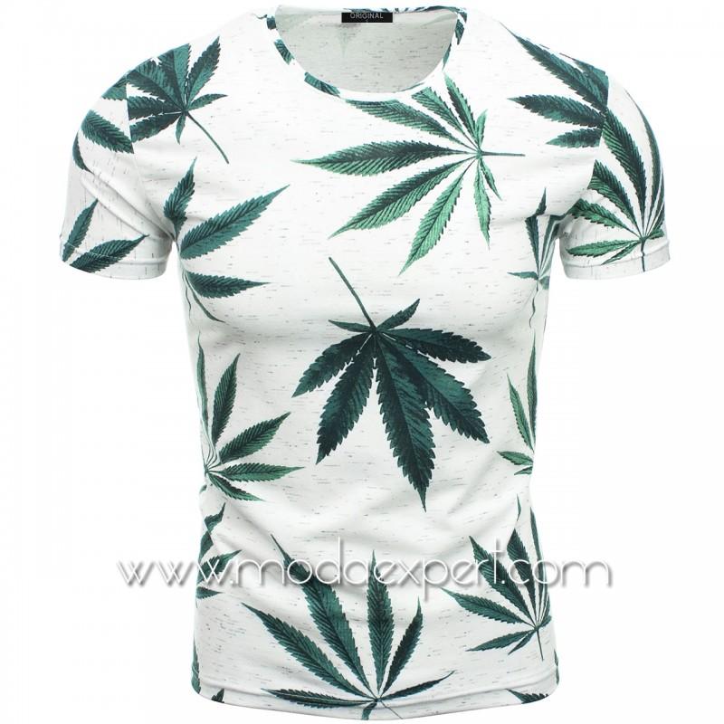 Мъжка тениска с принт F2119