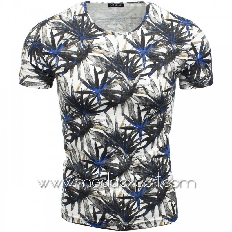 Мъжка тениска с принт F2120