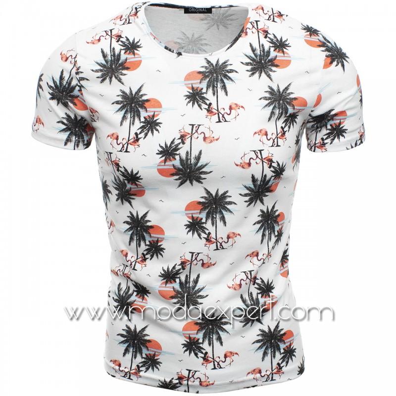 Мъжка тениска с принт F2122