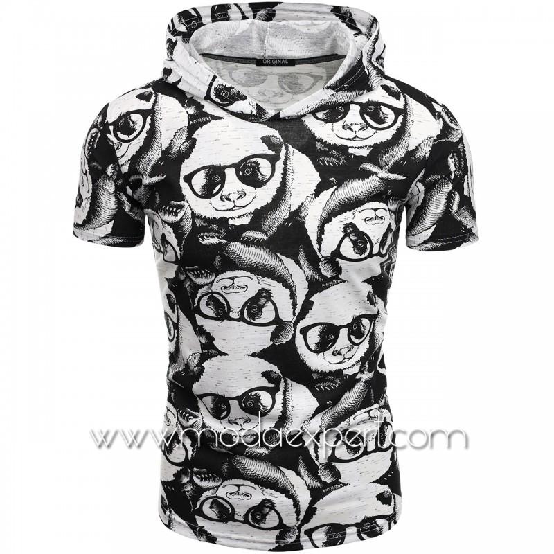 Мъжка тениска с принт F2198
