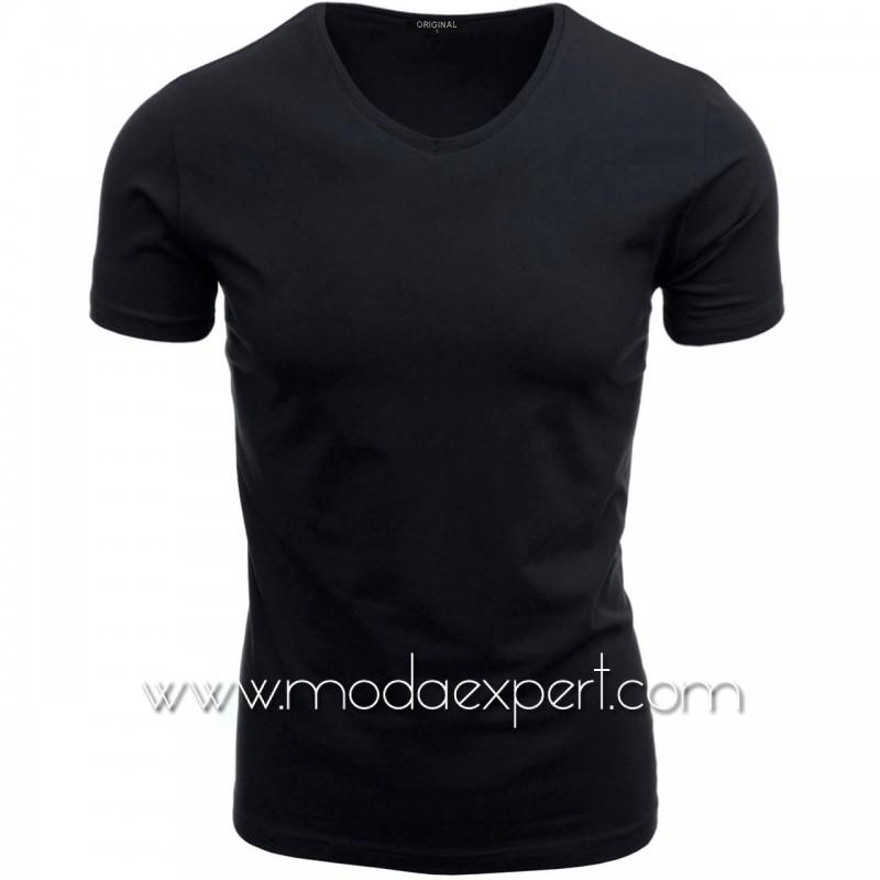 Тениска с V-образно деколте F90-DDBL