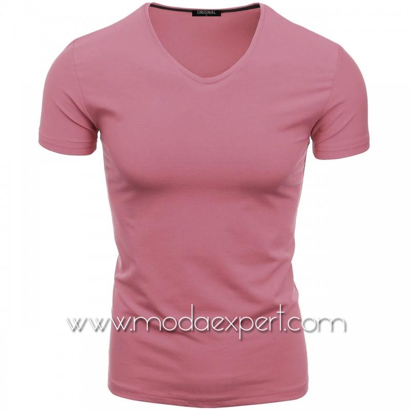 Тениска с V-образно деколте F90-DR