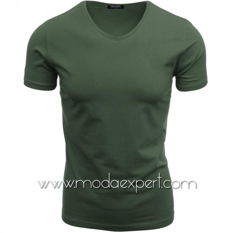 Тениска с V-образно деколте F90-K