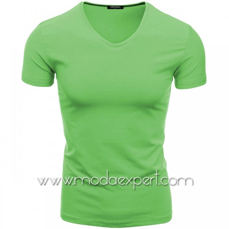 Тениска с V-образно деколте F90-LGR