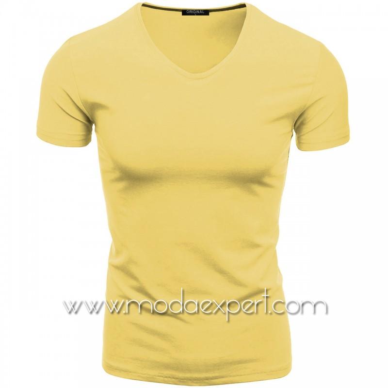 Тениска с V-образно деколте F90-LY
