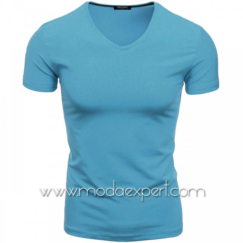 Тениска с V-образно деколте F90-SKBL