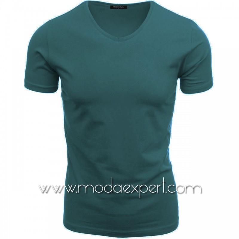 Тениска с V-образно деколте F90DSBL