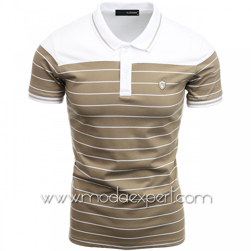 Mъжка тениска с яка I21-108W
