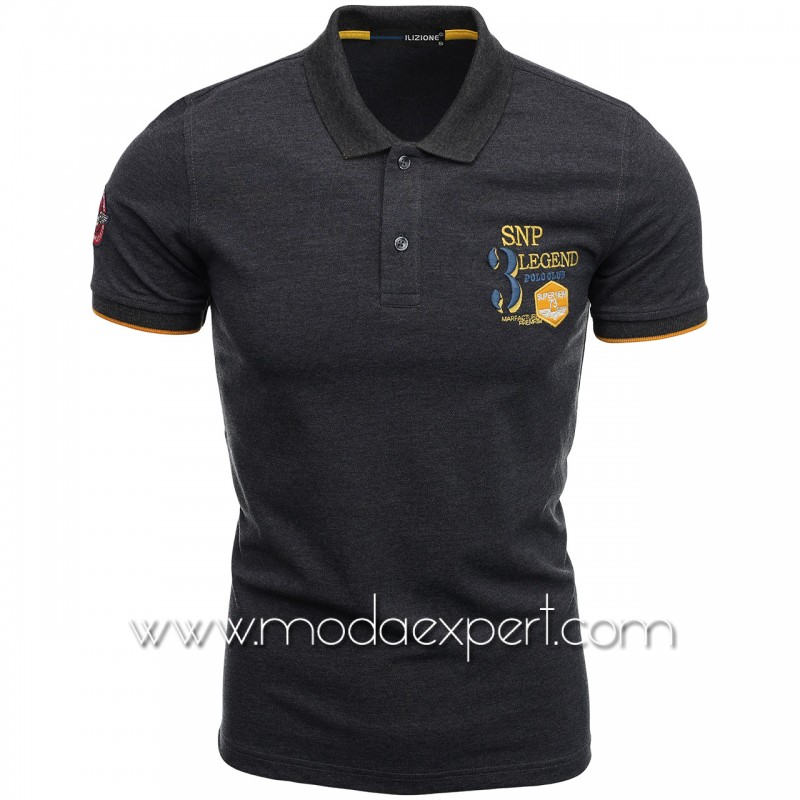 Mъжка тениска с яка I21-111A