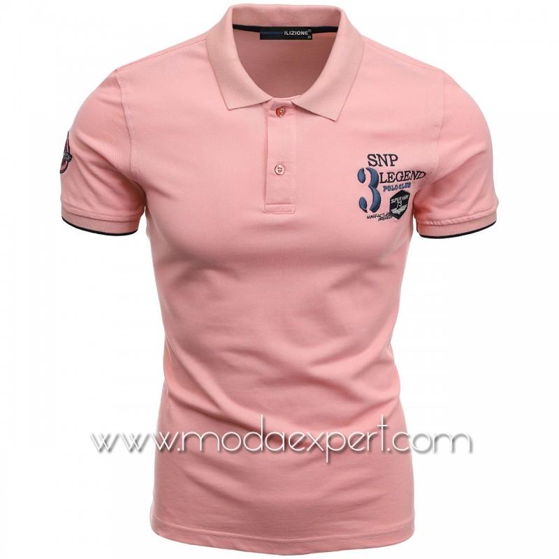 Mъжка тениска с яка I21-111P