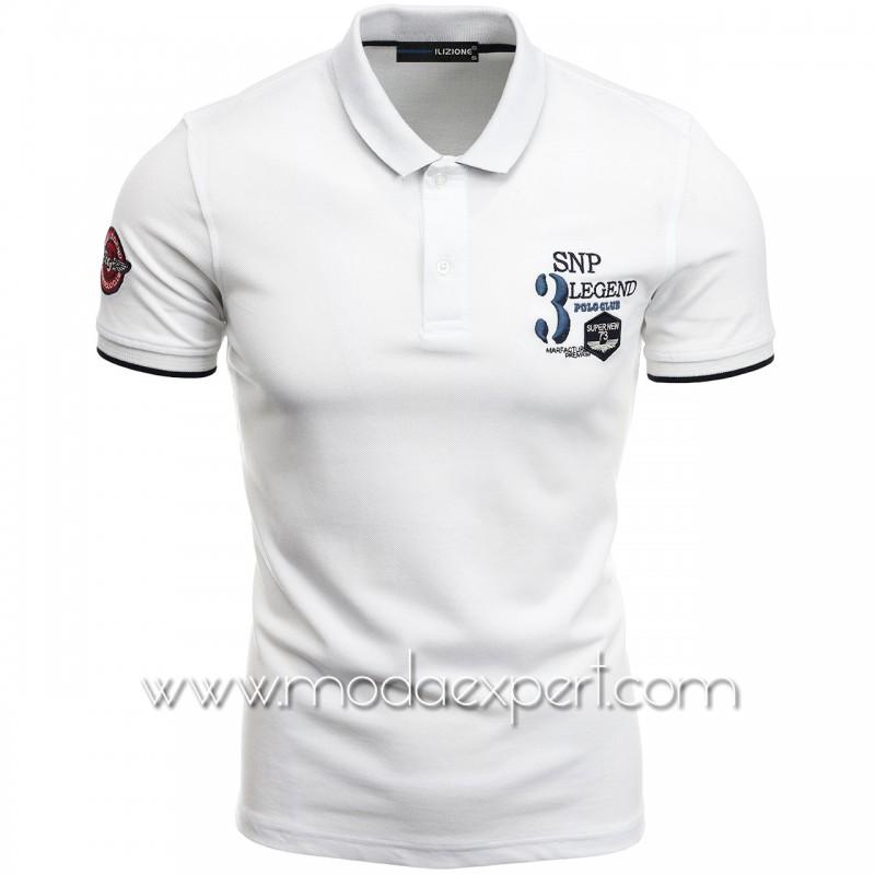 Mъжка тениска с яка I21-111W