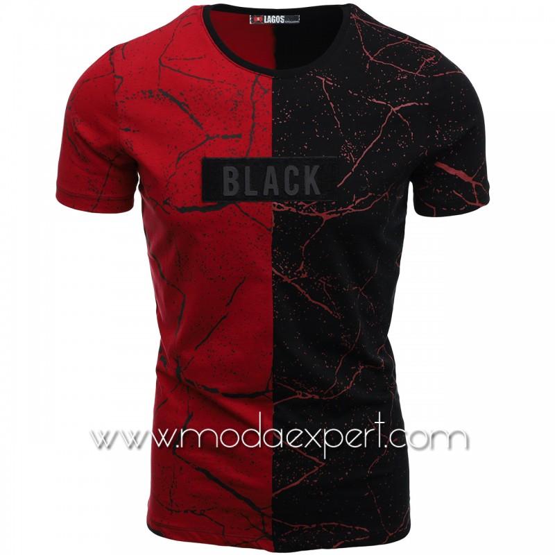 Мъжка тениска с щампи L20478BU
