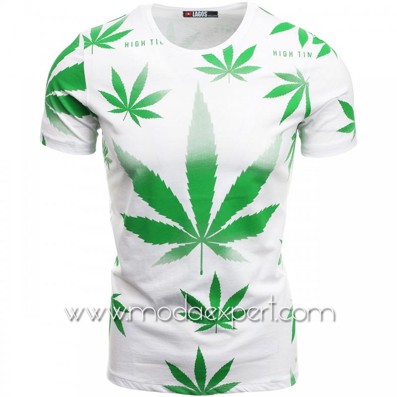 Мъжка тениска с щампи L20630W
