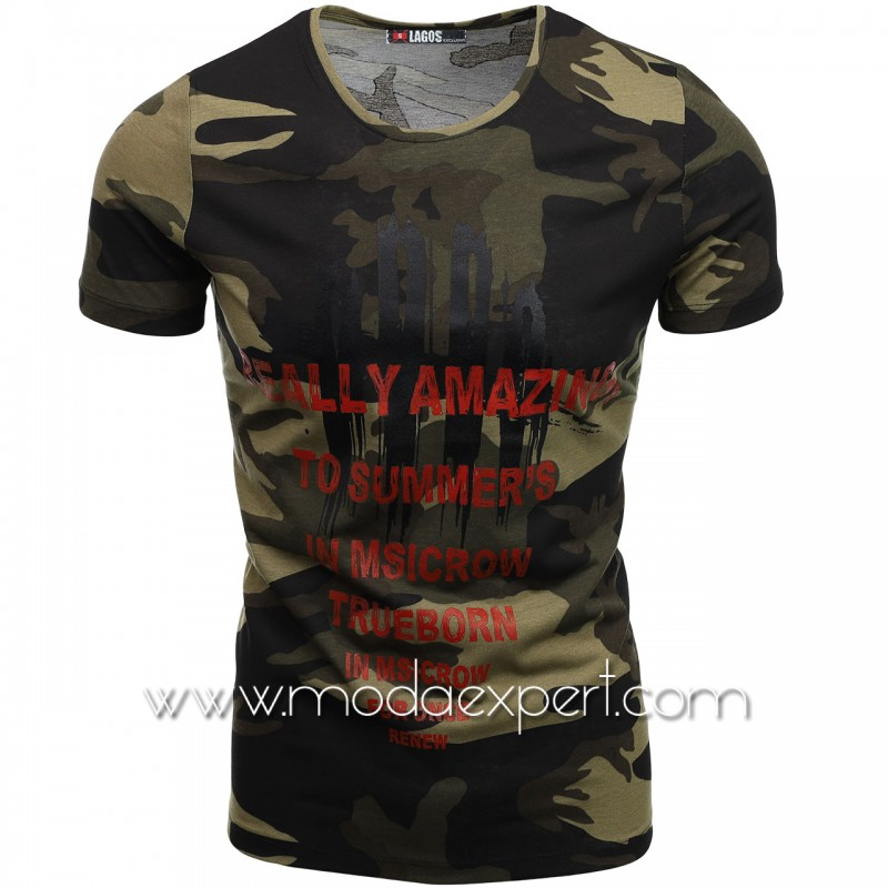 Мъжка тениска с щампи L20706K