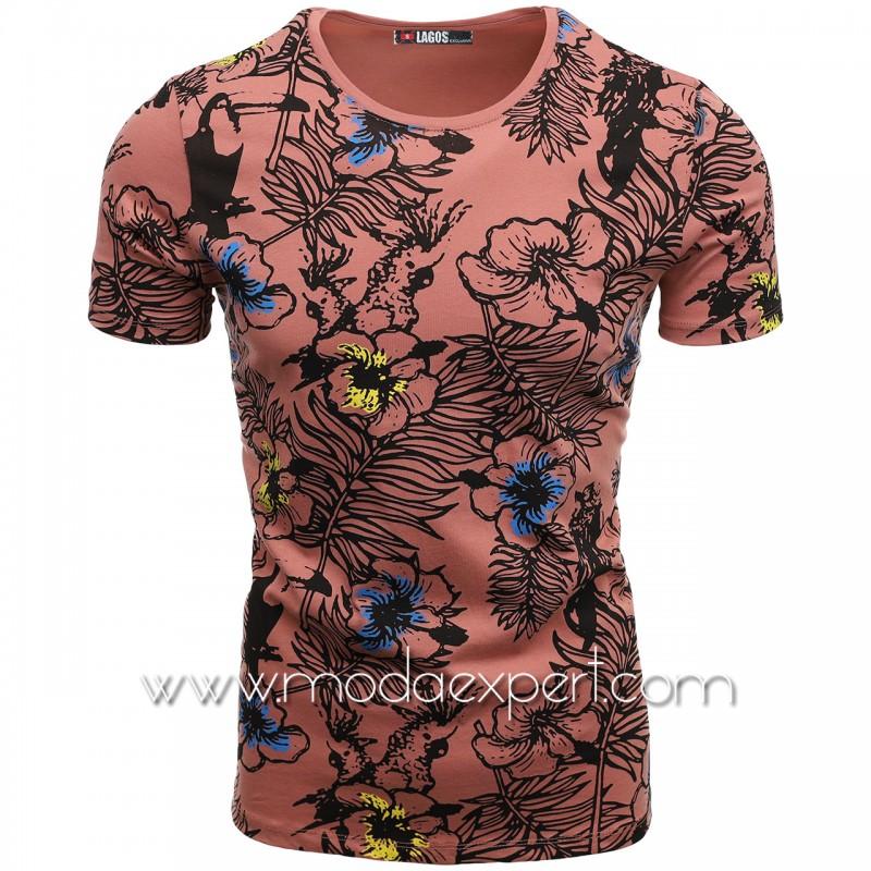Флорална мъжка тениска L20984PD