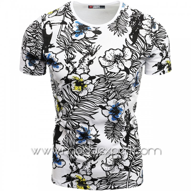Флорална мъжка тениска L20984W