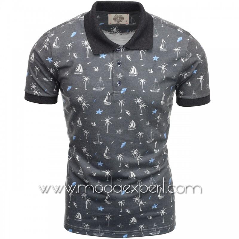 Мъжка тениска с яка P8601A