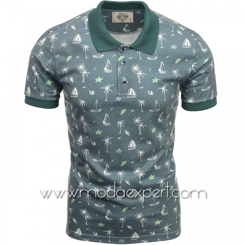 Мъжка тениска с яка P8601GR