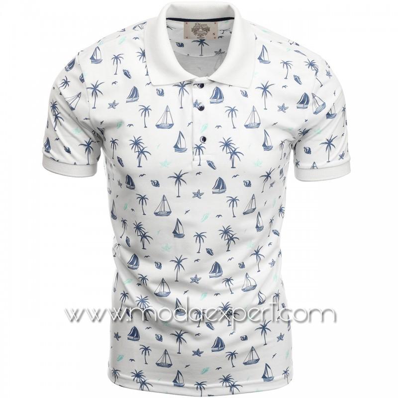 Мъжка тениска с яка P8601W