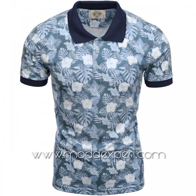 Флорална мъжка тениска P8602BL