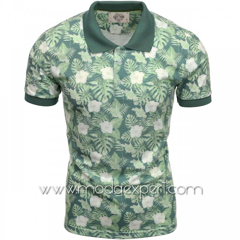 Флорална мъжка тениска P8602GR