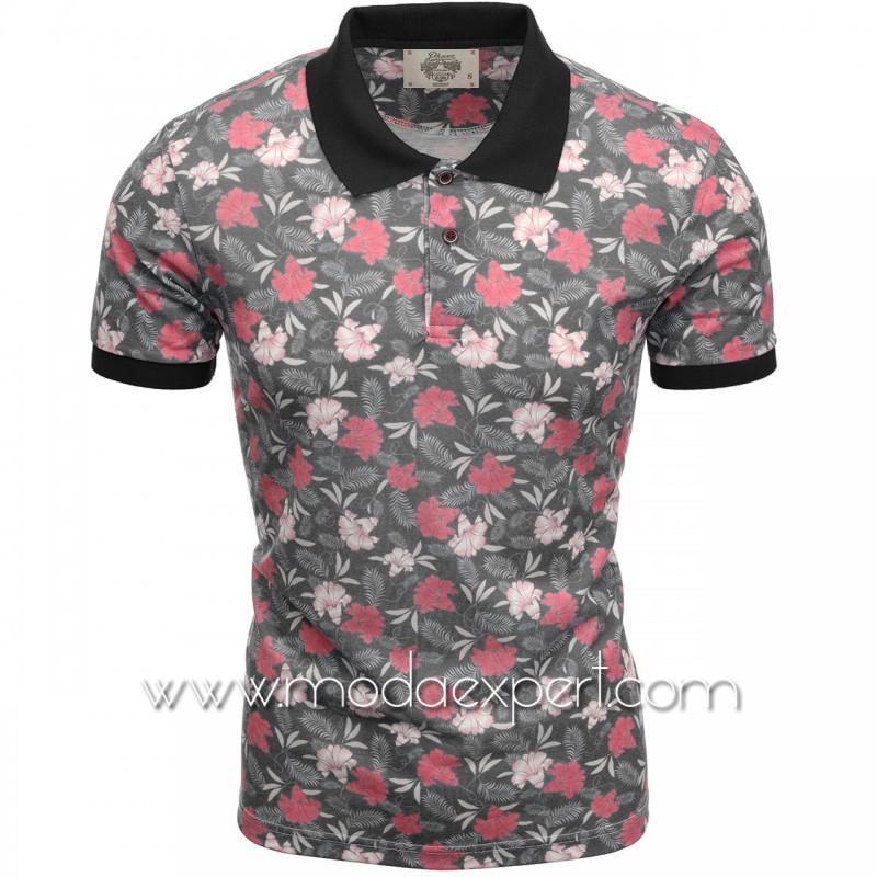Флорална мъжка тениска P8605А