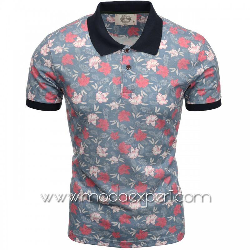 Флорална мъжка тениска P8605BL