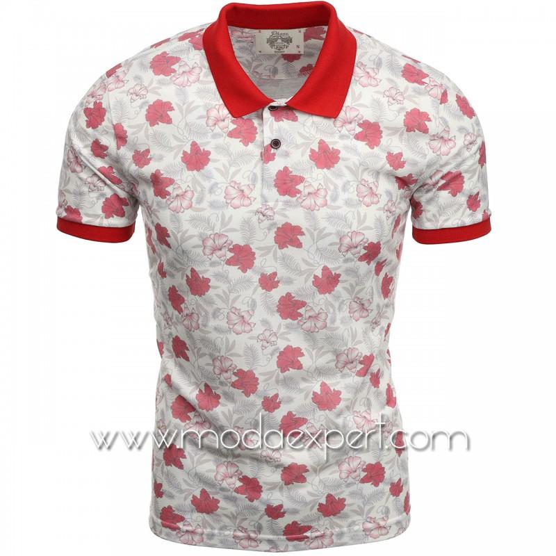 Флорална мъжка тениска P8605E