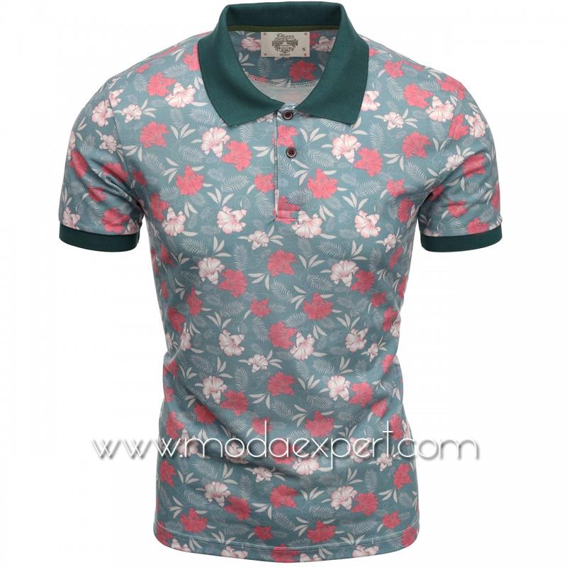 Флорална мъжка тениска P8605GR