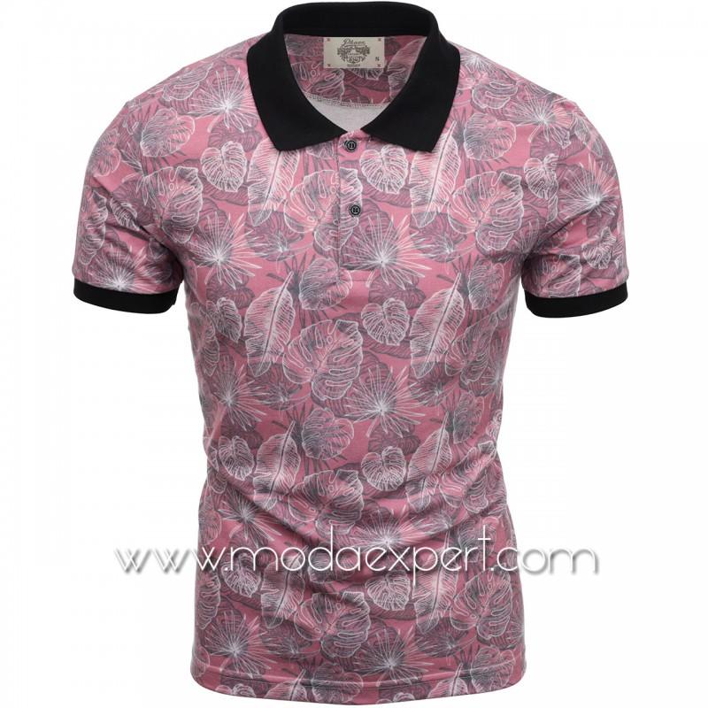 Флорална мъжка тениска P8606BU