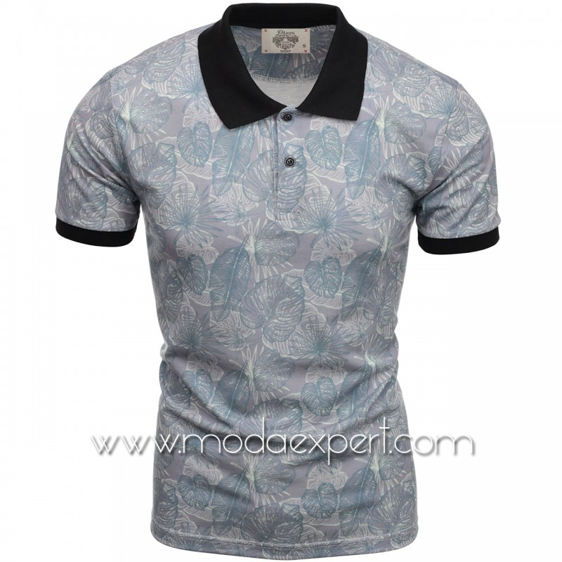 Флорална мъжка тениска P8606G