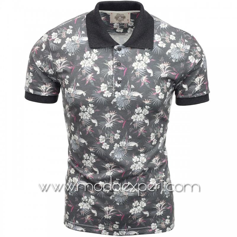 Флорална мъжка тениска P8607G