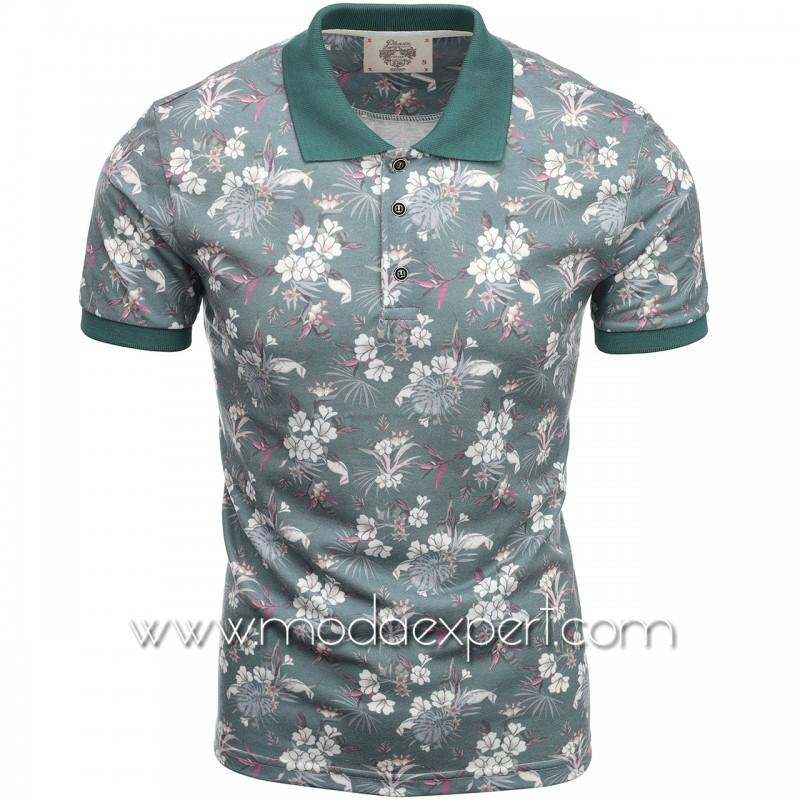 Флорална мъжка тениска P8607GR