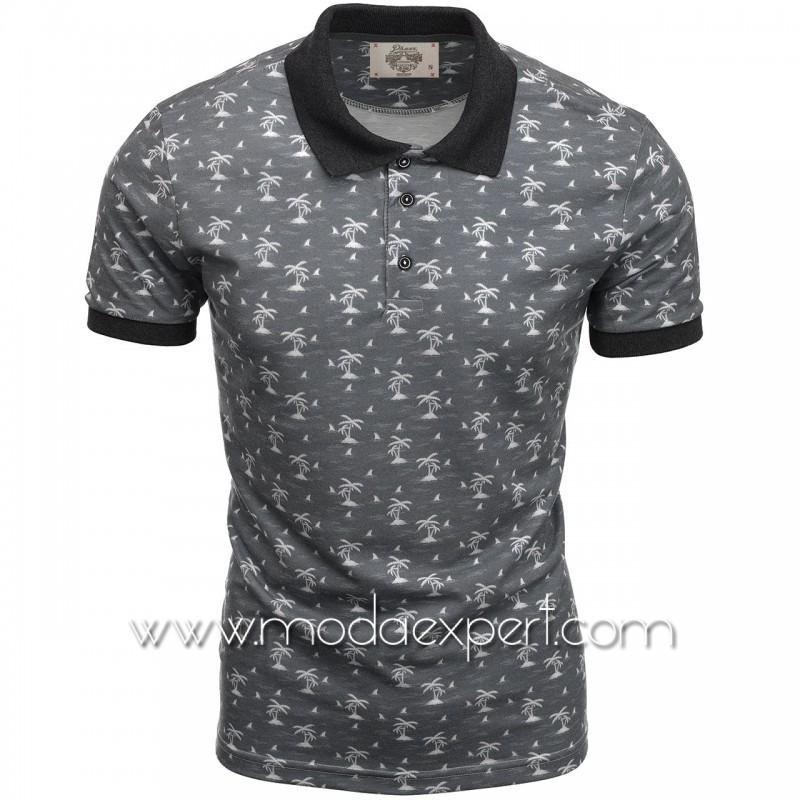 Mъжка тениска с яка P8609A