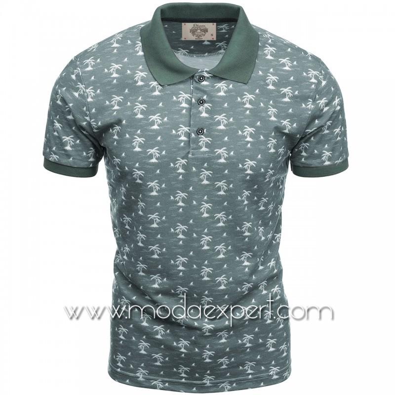 Mъжка тениска с яка P8609DGR