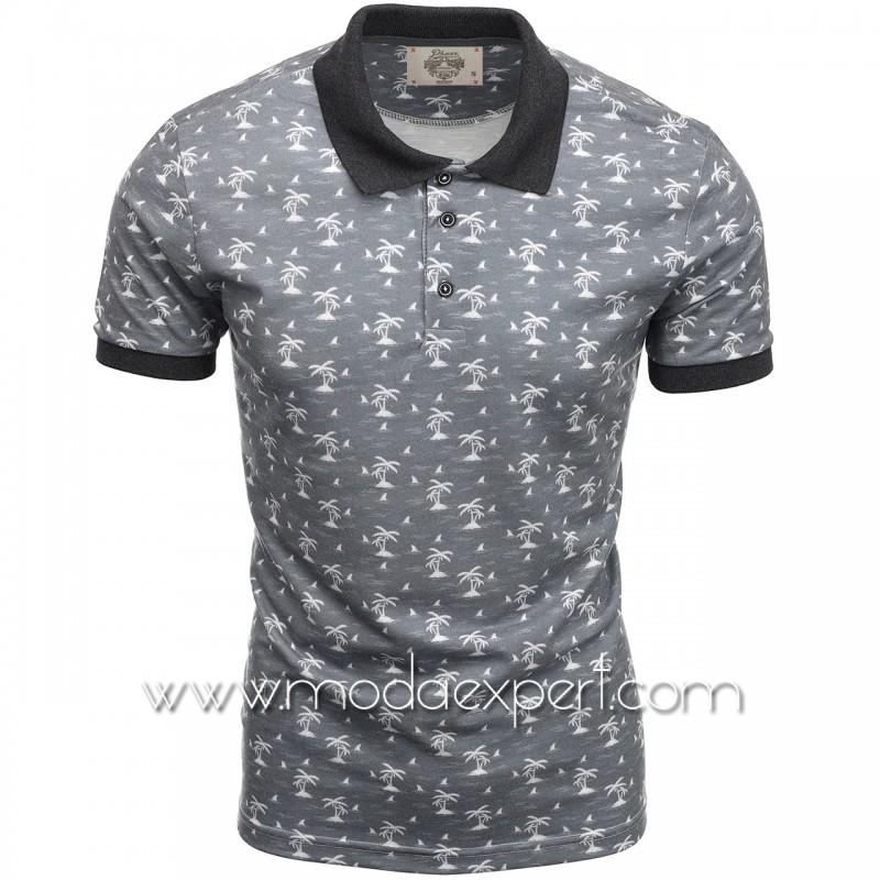 Mъжка тениска с яка P8609G