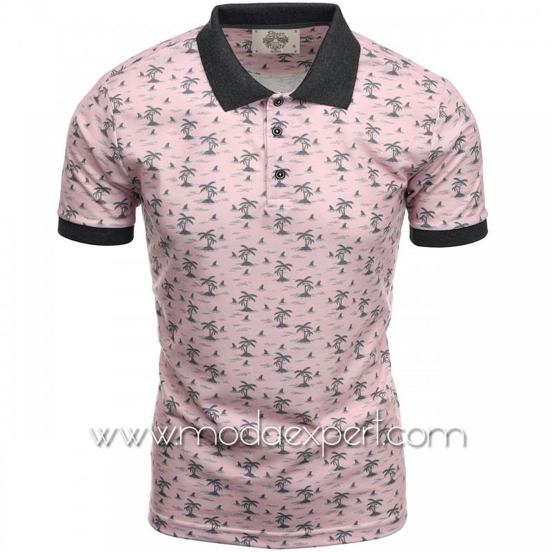 Mъжка тениска с яка P8609P