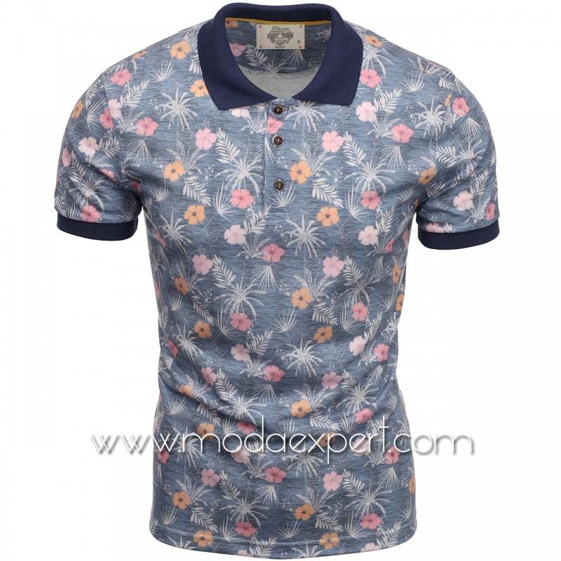 Флорална мъжка тениска P8613BL