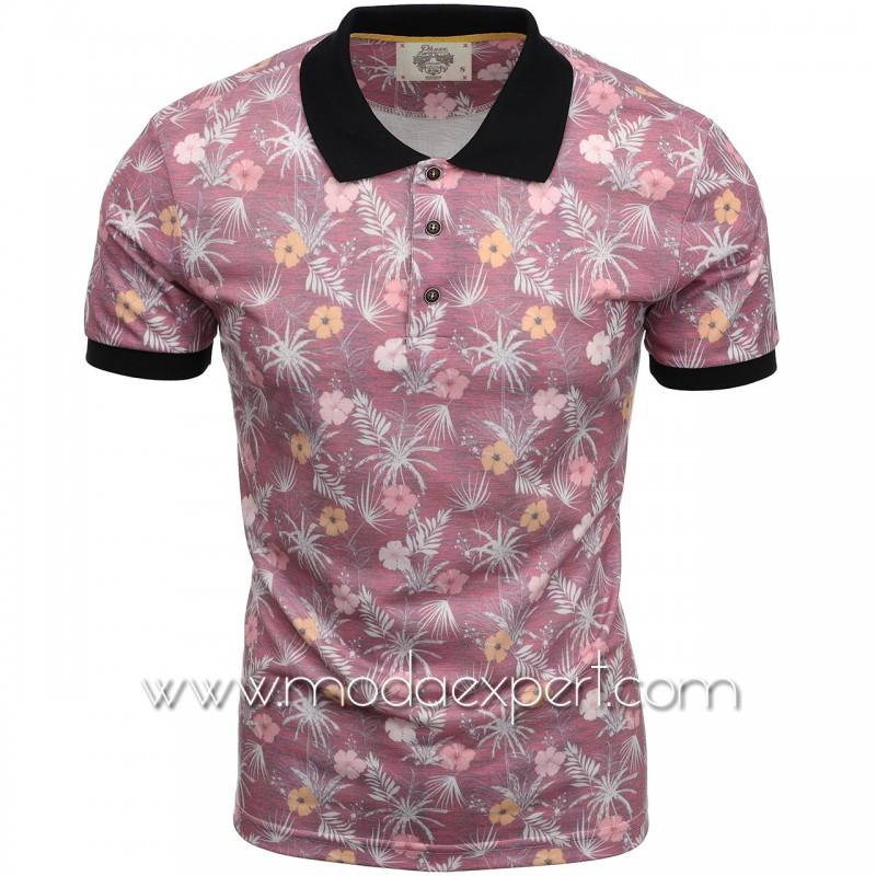 Флорална мъжка тениска P8613BU