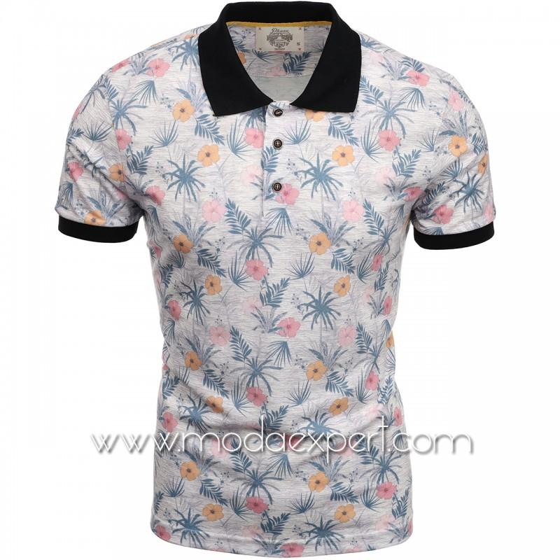 Флорална мъжка тениска P8613E