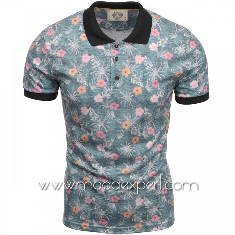 Флорална мъжка тениска P8613GR