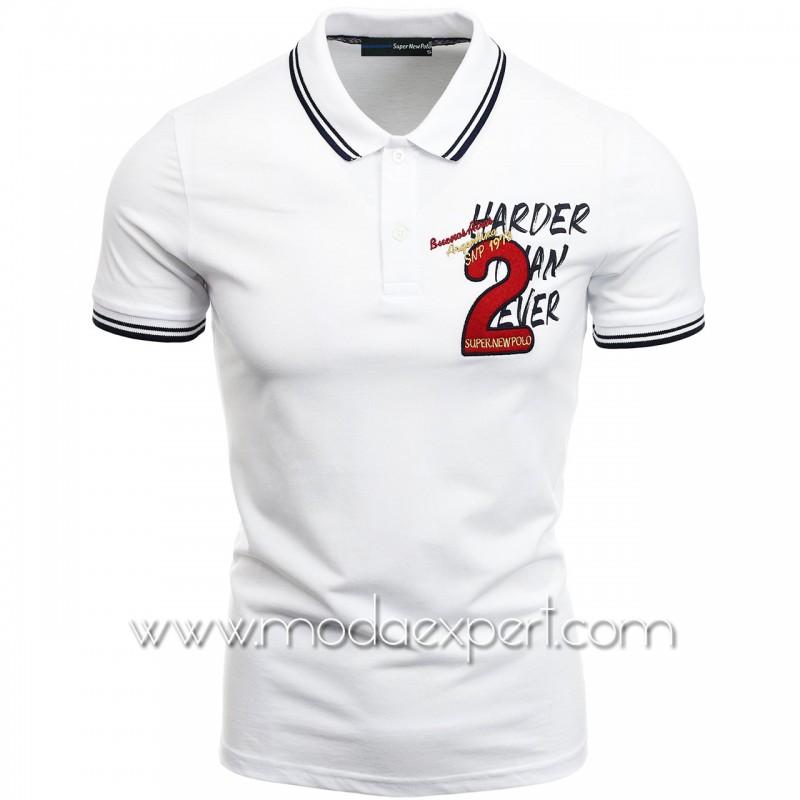 Mъжка тениска с яка SN21-114W