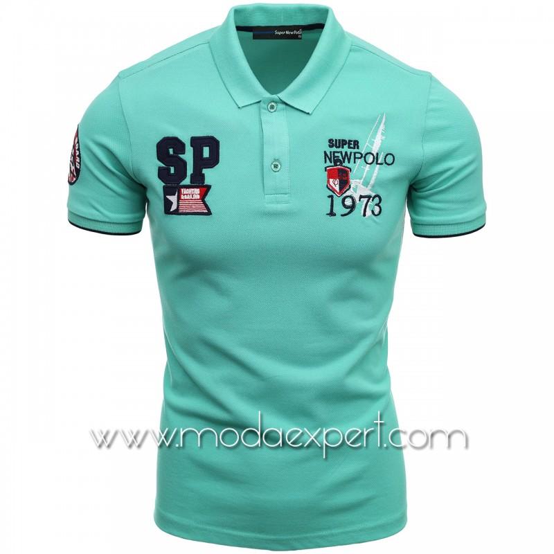 Mъжка тениска с яка SN21-115GR
