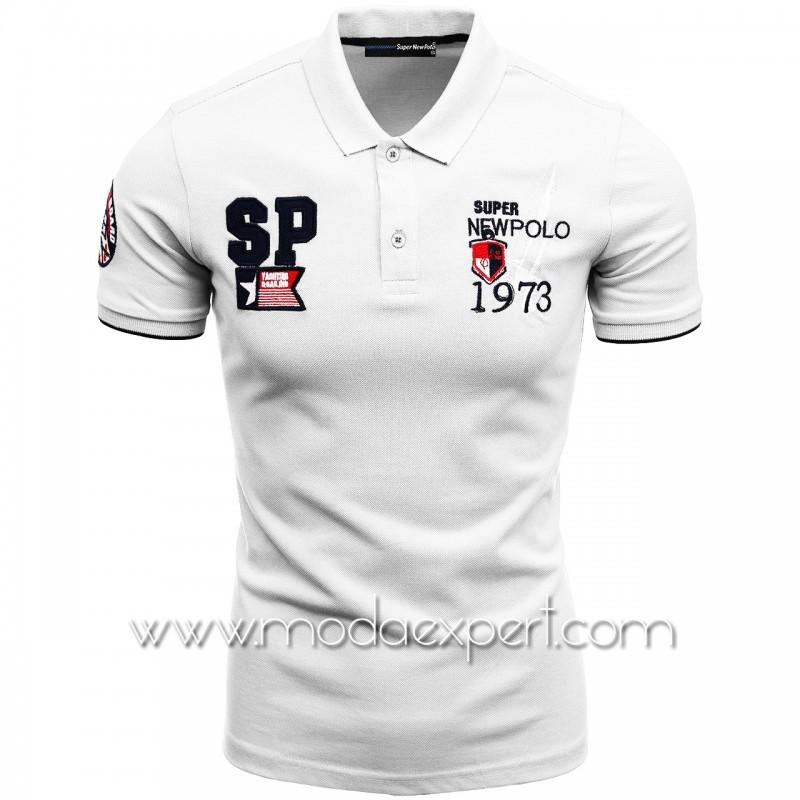 Mъжка тениска с яка SN21-115W